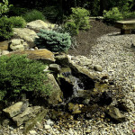 designscape, Brown County, hardscaping, waterfalls, water features, natural stone, gravel walk