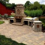 hardscape, paving stones, designscape, outdoor bbq,