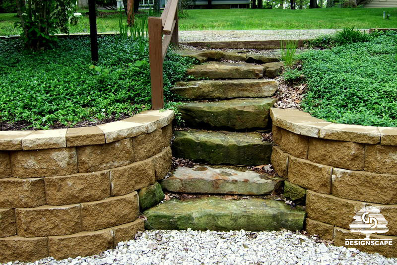 Natural Building Stone Steps : In the spirit of stone natural steps designscape
