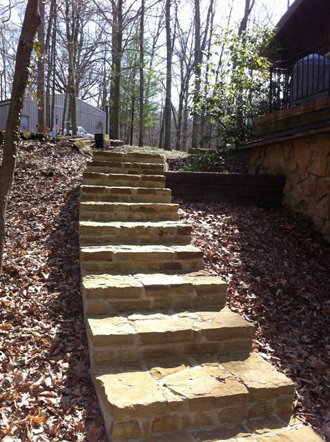 Installing Sandstone Steps Designscape